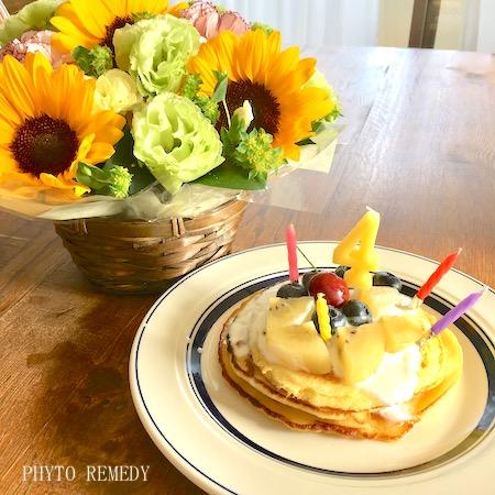 アトピっ子の誕生日ケーキ